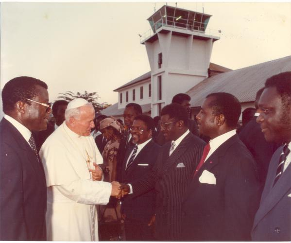 Daddy Receiving Pope John Paul II